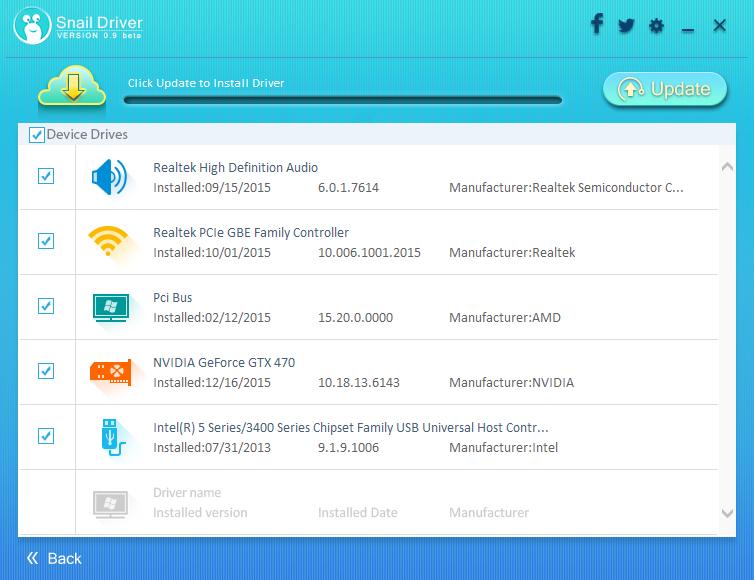 SnailDriver - ứng dụng tự động cập nhật driver trên Windows