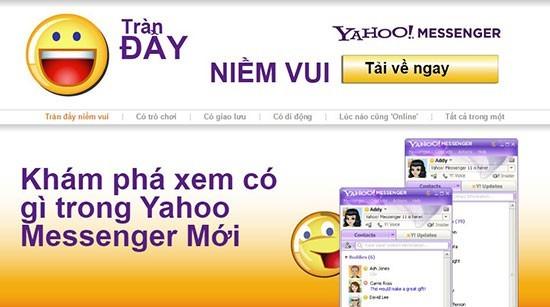 Yahoo Messenger ngừng hoạt động vào ngày 5/8