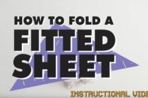 Cách nhanh chóng gấp khăn trải giường gọn gàng