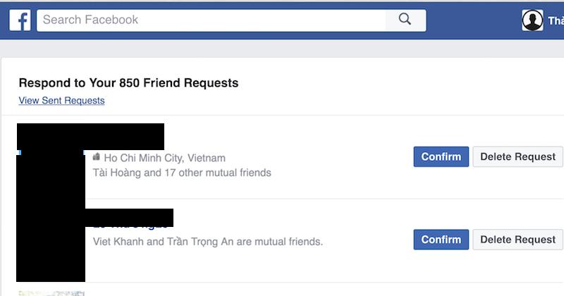 Cách hủy lời mời kết bạn hàng loạt trên Facebook