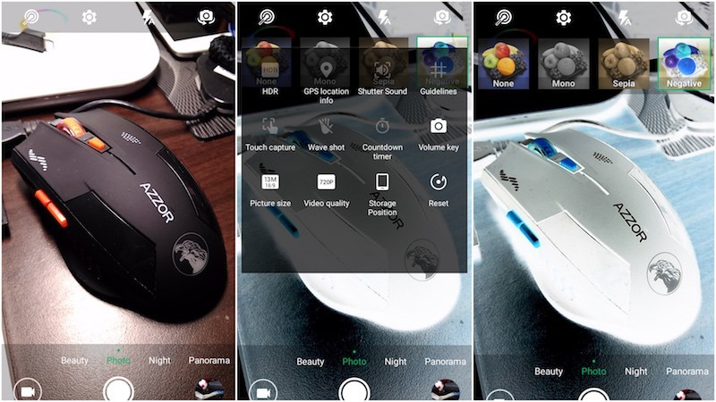 Giao diện camera trên Infinix Hot 3 LTE