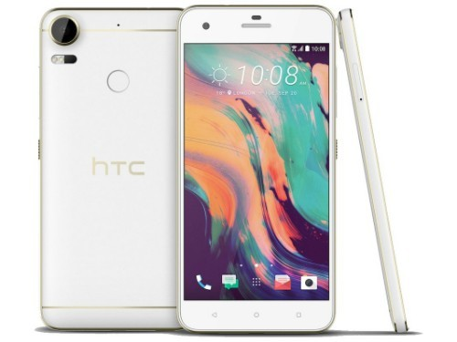 HTC Desire 10 màu trắng.