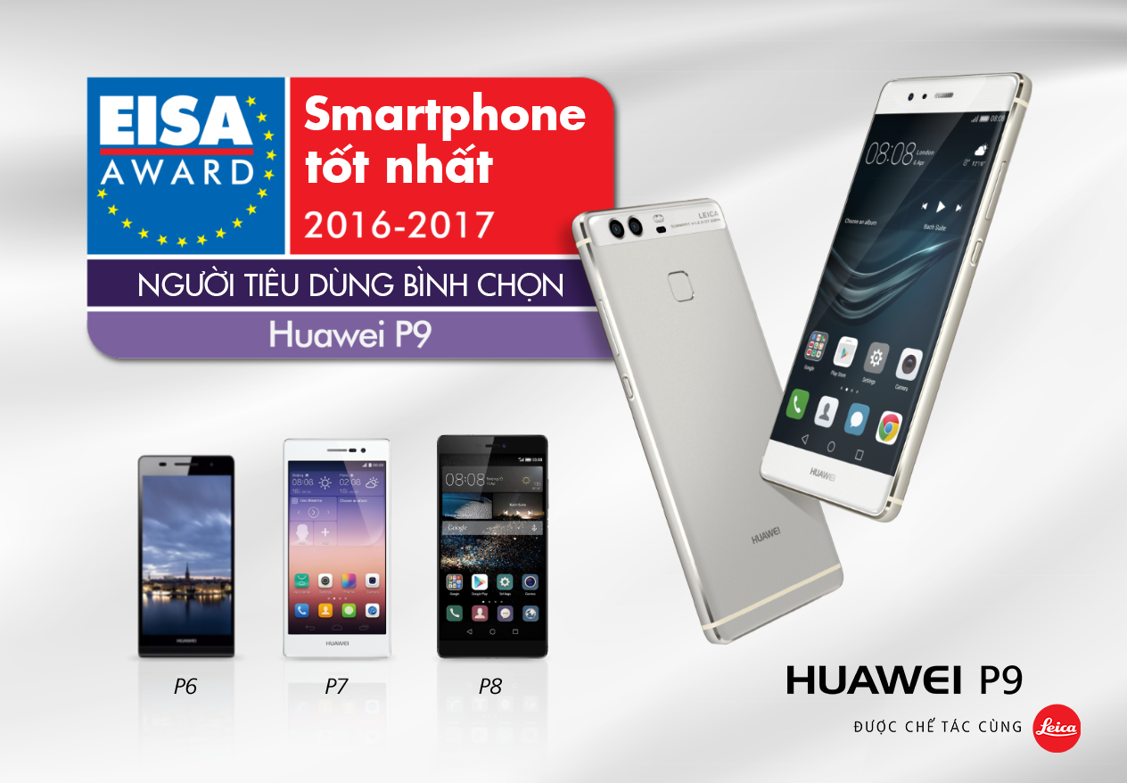 Huawei P9 giành giải thưởng
