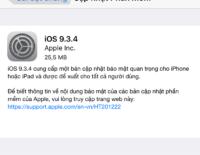 Apple tung iOS 9.3.4 vá lỗi bảo mật trên iOS bị Pangu khai thác Jailbreak