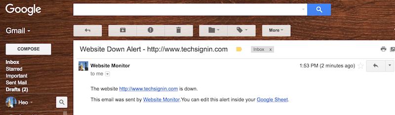 Tự kiểm tra tình trạng website bằng Google Sheets
