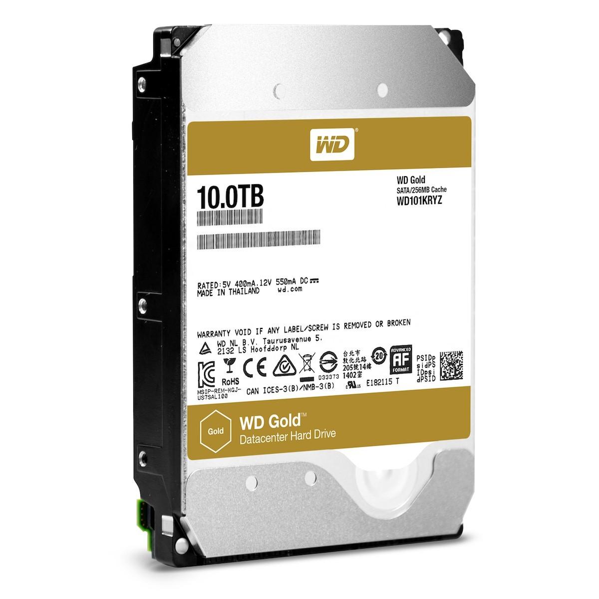 Ra mắt ổ WD Gold dùng công nghệ khí Heli, dung lượng tới 10TB