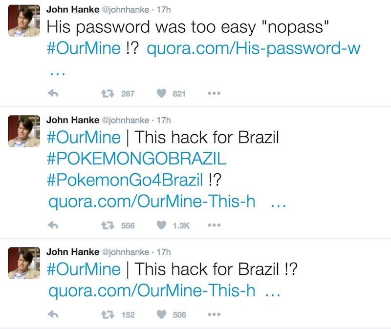 Tài khoản Twitter của tác giả Pokemon Go bị hack vì password quá dễ đoán