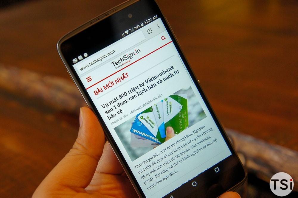 Ảnh thực tế BlackBerry DTEK50 (Neon): mỏng, nhẹ, đẹp