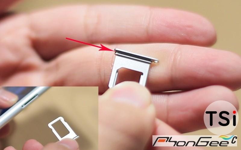 Ảnh khay SIM iPhone 7 chứng minh máy hỗ trợ chống nước