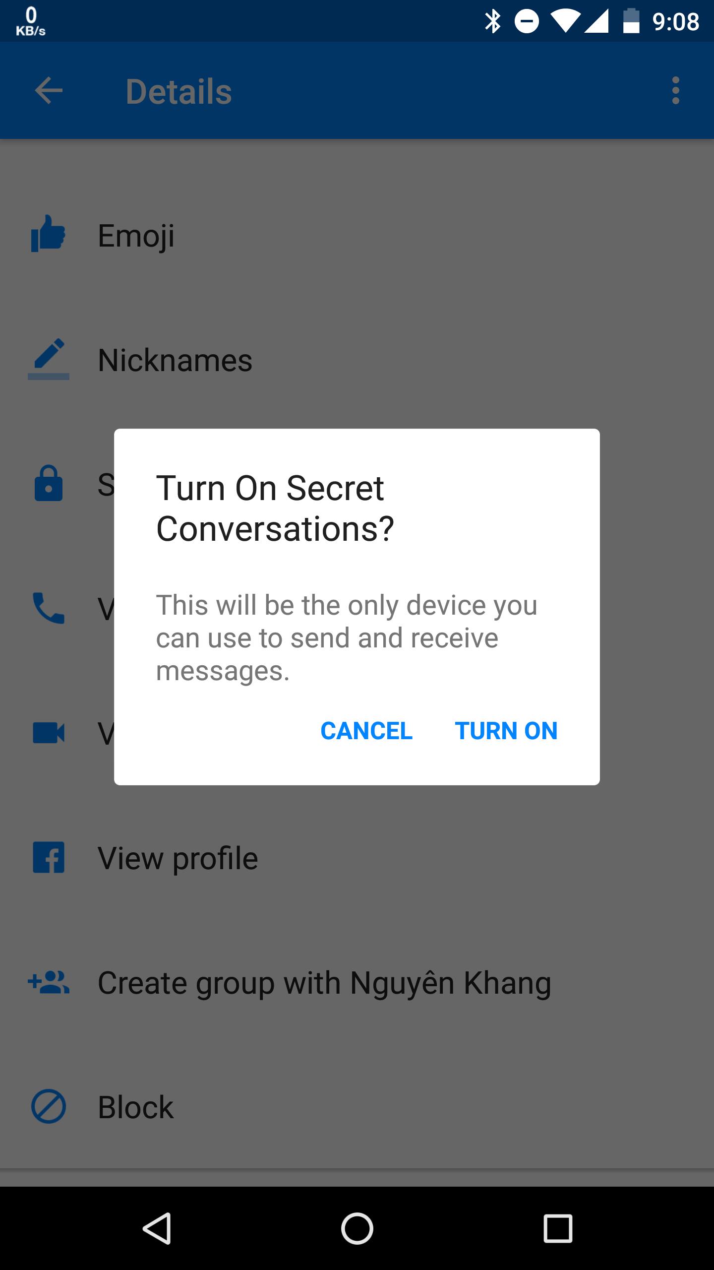 Secret Conversation - Facebook cho bạn gửi tin nhắn mã hóa và tự hủy như điệp viên