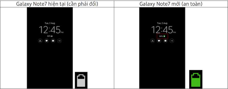 Samsung Vina thông báo nhận diện Galaxy Note7 mới