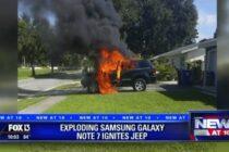 Nga: Galaxy Note7 nổ tung làm xe Jeep bốc cháy ngùn ngụt
