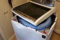 """Máy giặt Samsung """"tự hủy"""" gây nguy hiểm cho người dùng"""
