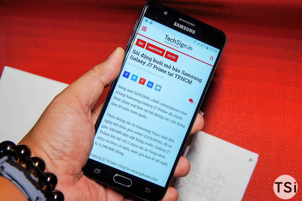 Mở hộp Samsung Galaxy J7 Prime bản thương mại