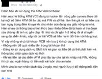 Người dùng Facebook cảnh báo máy ATM bị gắn Skimmer
