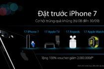 Viễn Thông A ưu đãi đặt trước iPhone 7 với quay số trúng thưởng và giảm tiền