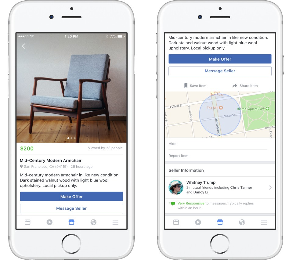 Facebook ra mắt Marketplace