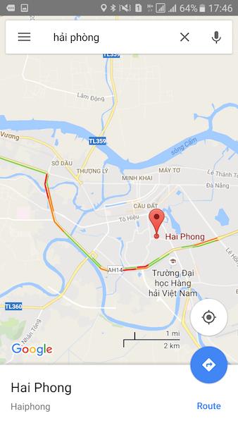 Google Maps đã cập nhật tình hình giao thông, hiện có TP.HCM, Hà Nội, Hải Phòng