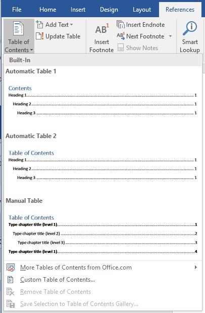 Tạo mục lục tự động trong Microsoft Word