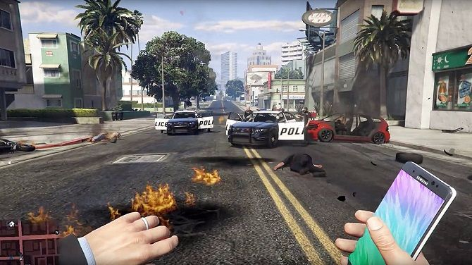 Samsung đòi YouTube xoá video nhạo Note7 thành bom trong game GTA