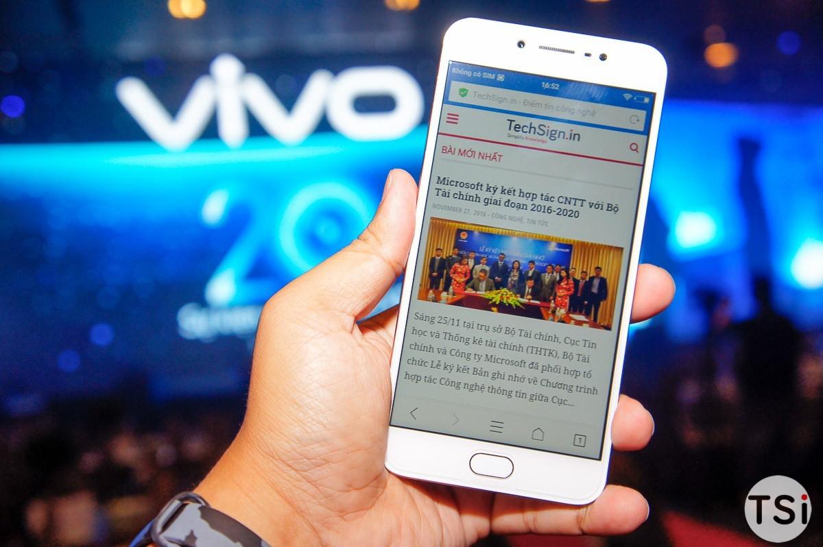 Vivo V5 lên kệ từ 3/12 với giá 6 triệu: Camera trước 20MP, RAM 4GB, pin 3.000mAh