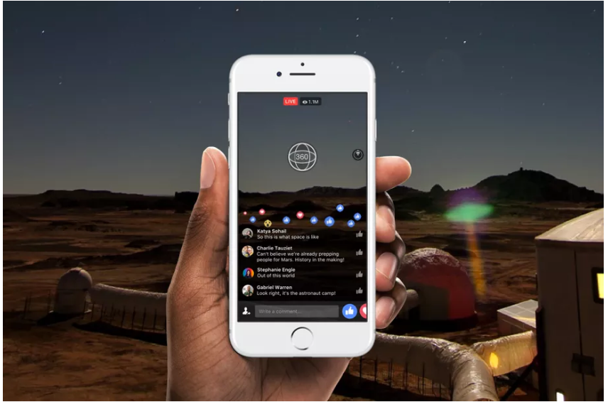 Facebook sẽ sớm hỗ trợ livestream video 360 độ
