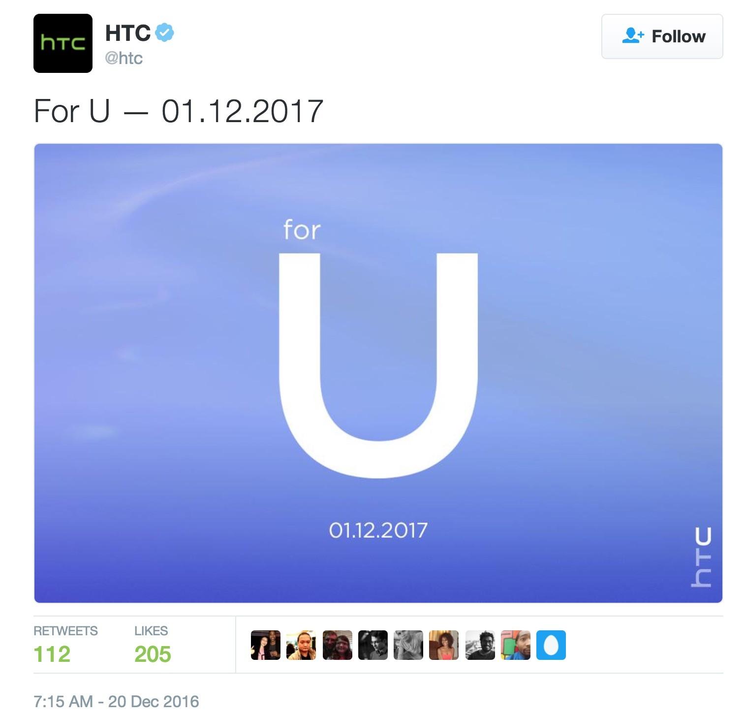 HTC sẽ giới thiệu sản phẩm mới vào ngày 12/1 tới