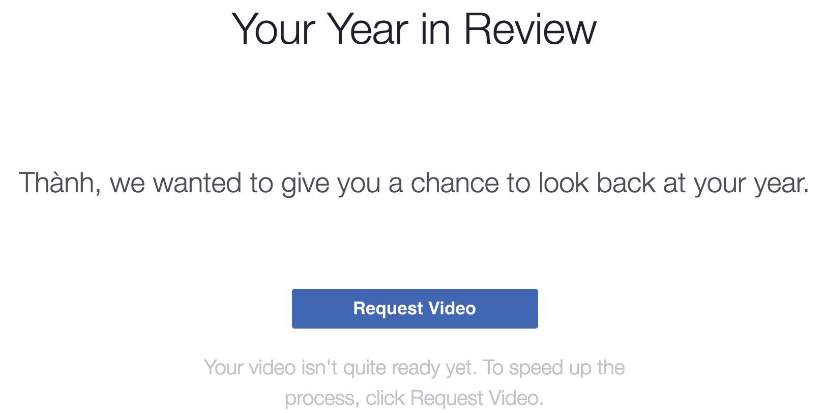 Hướng dẫn tạo video Year In Review 2016 trên Facebook