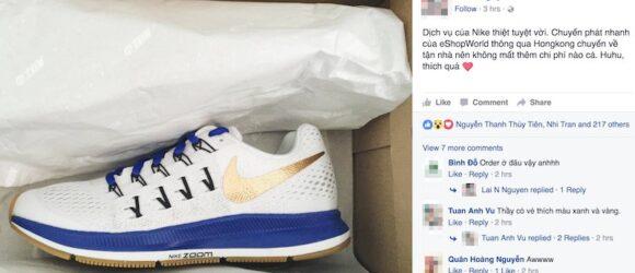 Nike cho phép bạn tùy biến giày, họ sẽ sản xuất và giao hàng ngay cả khi bạn ở Việt Nam