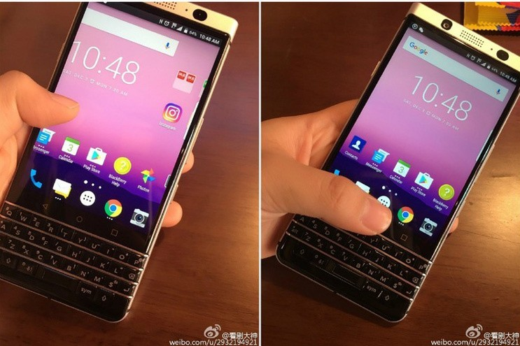 Rò rỉ mẫu BlackBerry mới chạy Android, có bàn phím vật lí