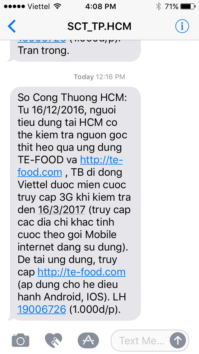 Từ hôm nay, sử dụng smartphone truy xuất được nguồn gốc thịt heo tại TP.HCM