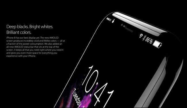 Xuất hiện concept iPhone 8 viền màn hình siêu mỏng, siêu đẹp