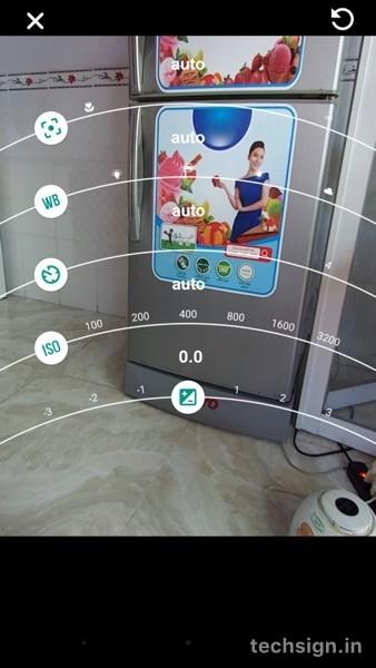 Giao diện ứng dụng camera trên Moto Z Play
