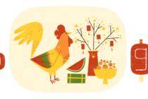 Google đổi Doodle mừng Xuân Đinh Dậu