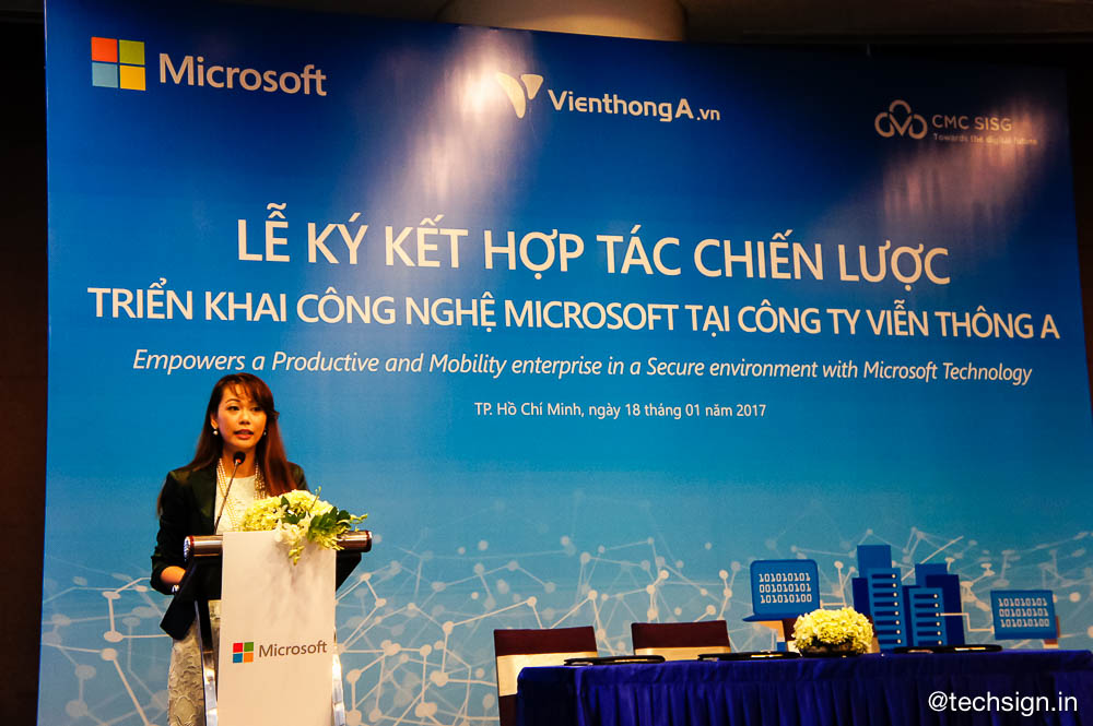 Microsoft ký kết hợp tác triển khai công nghệ tại Viễn Thông A