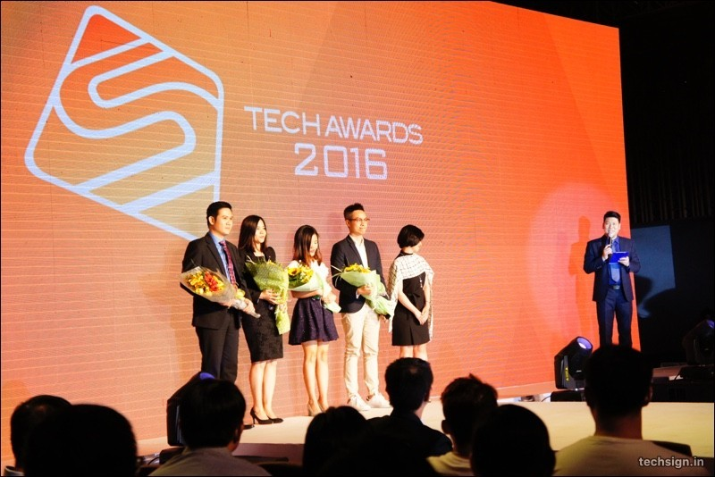 Hình ảnh chương trình bình chọn Tech Awards 2016 của VnExpress