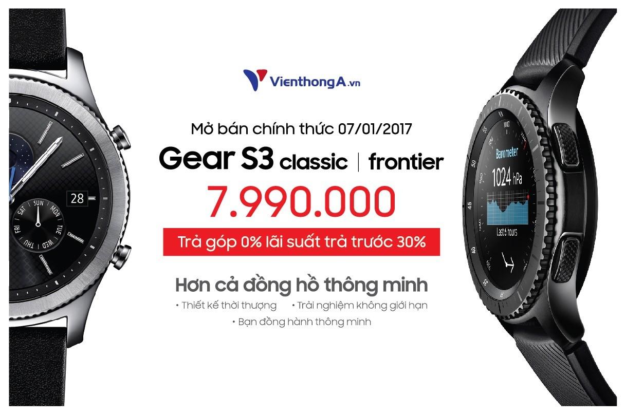 Viễn Thông A mở gói trả góp không lãi suất khi mua Gear S3