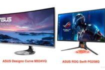 ASUS giới thiệu màn hình Designo Curve MX34VQ cong và Swift PG258Q