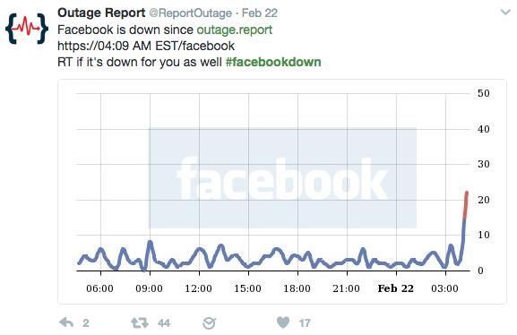 Facebook vừa gặp sự cố khiến nhiều người không truy cập được