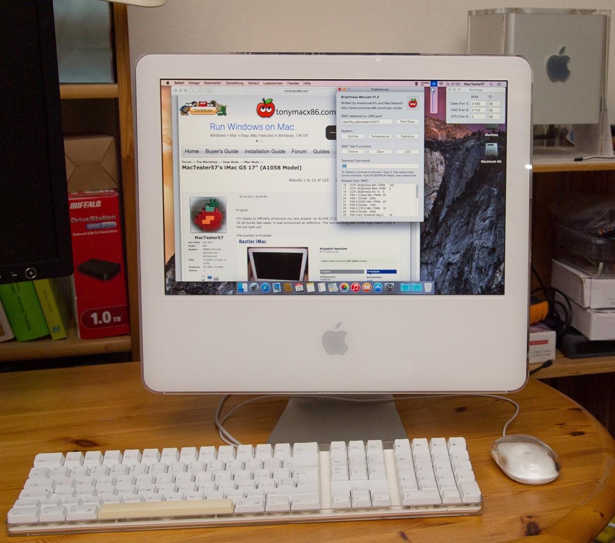 Một cao thủ Hackintosh đã hồi sinh chiếc iMac G5 với bo mạch Intel NUC