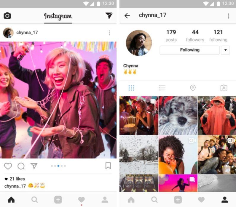 Instagram cho phép người dùng up 10 hình và clips trong một post.