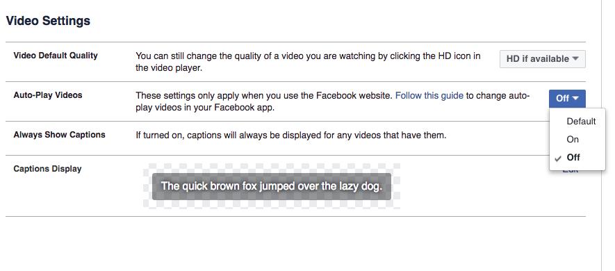 Tắt tự động phát video khi truy cập website bất kì và Facebook