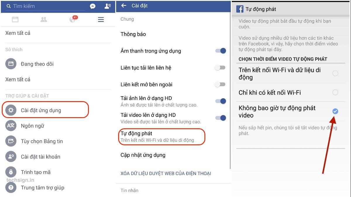 Tắt tự động phát video trên ứng dụng Facebook cho Android