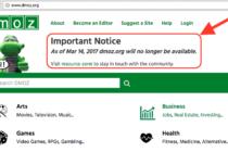 Thư viện nổi tiếng Dmoz sẽ đóng cửa ngày 14 tháng 3 tới