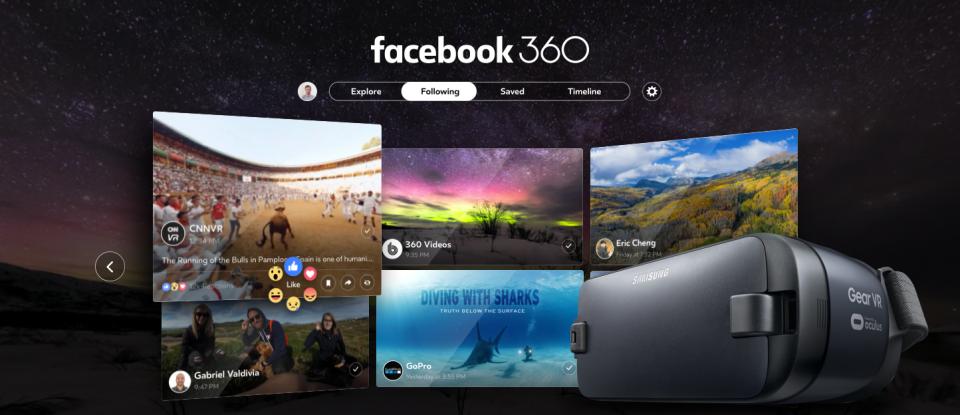 Facebook 360 ra mắt, người dùng Gear VR có thể tải về ngay