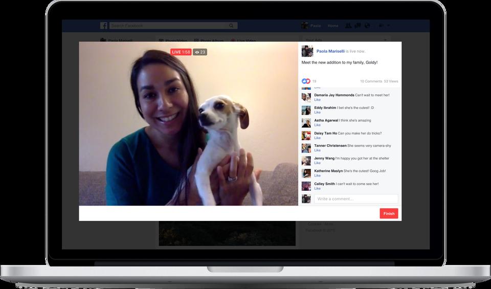 Facebook chính thức mở Live Stream trên máy tính cho tài khoản người dùng