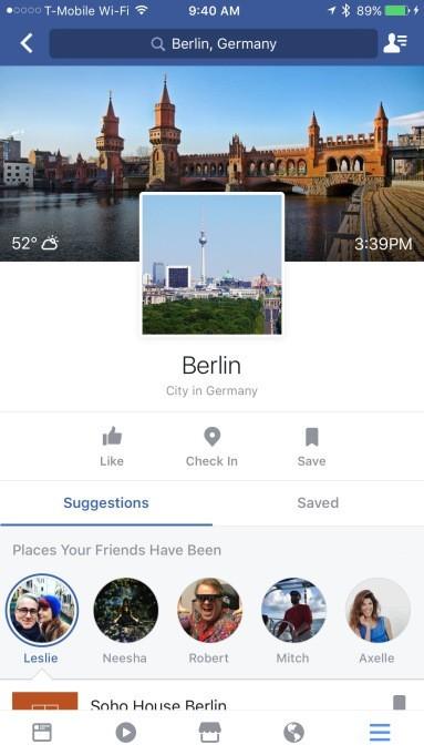 Facebook ra mắt tính nănglập kế hoạch du lịch City Guides