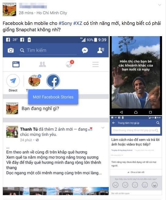 Nhiều người dùng Việt đã thấy Facebook Stories