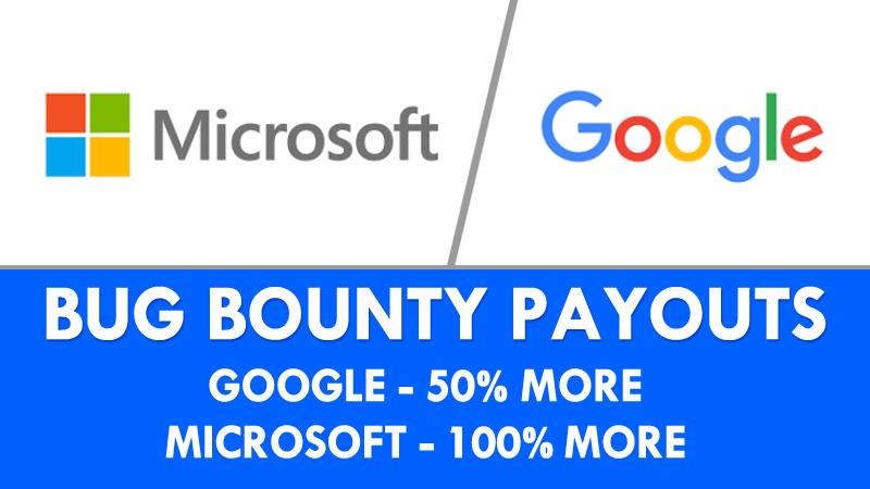 Google và Microsoft cùng tăng tiền thưởng cho các chuyên gia tìm lỗi bảo mật