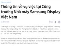 Samsung thông tin chính thức về vụ ẩu đả tại nhà máy Bắc Ninh